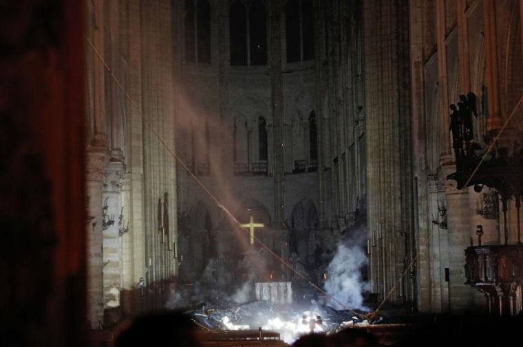 Notre Dame: the Cross Still Stands